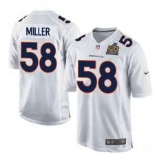 2016 Denver Broncos 58 Miller White youth jerseys