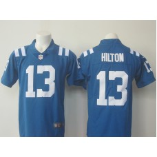2016 Men Indianapolis Colts 13 Hilton Nike Royal Color Rush Limited Jersey