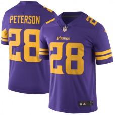2016 Men Minnesota Vikings 28 Peterson Nike Purple Color Rush Limited Jersey