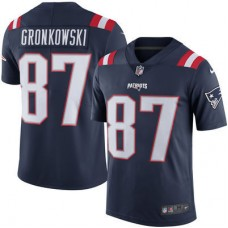2016 Men New England Patriots 87  Rob Gronkowski Nike Navy Color Rush Limited Jersey