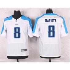 2016 Men's Nike Tennessee Titans 8 Marcus Mariota Elite White NFL Jersey