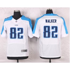 2016 Men's Nike Tennessee Titans 82 Delanie Walker Elite White NFL Jersey