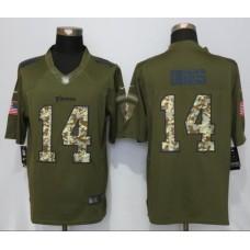 2016 Minnesota Vikings 14 Dlggs Green Salute To Service New Nike Limited Jersey
