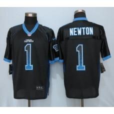 2016 NEW Nike Carolina Panthers 1 Newton Drift Fashion Black Elite Jerseys