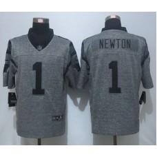 2016 NEW Nike Carolina Panthers 1 Newton Gray Men's Stitched Gridiron Gray Limited Jersey