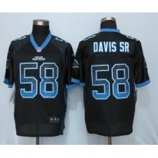 2016 NEW Nike Carolina Panthers 58 Davis sr Drift Fashion Black Elite Jerseys