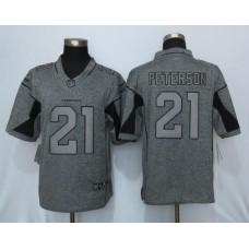 2016 New Nike Arizona Cardinals 21 Peterson Gray Men's Stitched Gridiron Gray Limited Jersey