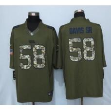 2016 New Nike Carolina Panthers 58 Davis sr Green Salute To Service Limited Jersey