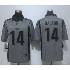 2016 New Nike Cincinnati Bengals 14 Dalton Gray Men's Stitched Gridiron Gray Limited Jersey