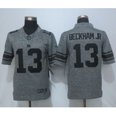 2016 New Nike York Giants 13 Beckham jr Gray Men's Stitched Gridiron Gray Limited Jersey