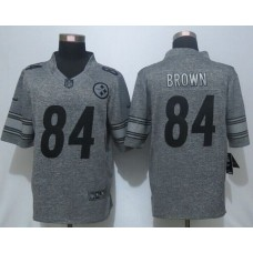 2016 New Pittsburgh Steelers 84 Brown Gray Men's Stitched Gridiron Limited Jersey