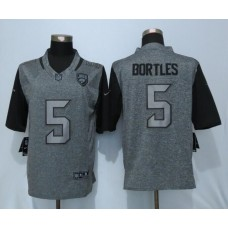 2016 Nike Jacksonville Jaguars 5 Bortles Gray Men's Stitched Gridiron Gray Limited Jersey