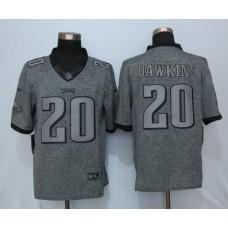 2016 Nike Philadelphia Eagles 20 Dawkins Gray Men's Stitched Gridiron Gray Limited Jersey