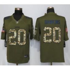 2016 Philadelphia Eagles 20 Brian Dawkins Green Salute To Service Nike Limited Jersey