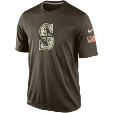 2016 Mens Seattle Mariners Salute To Service Nike Dri-FIT T-Shirt