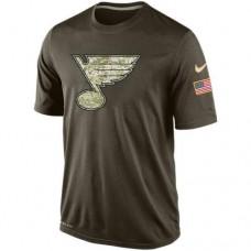 2016 Mens St. Louis Blues Salute To Service Nike Dri-FIT T-Shirt