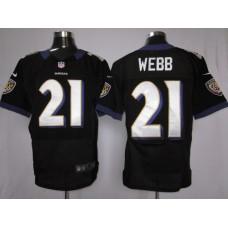 Baltimore Ravens 21 Webb Black Nike Elite Jersey