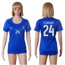 2016 European Cup Italy home 24 FLORENZI Blue Women soccer jerseys