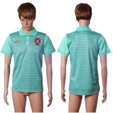 2016 Portugal away polo shirt green AAA+ soccer jerseys