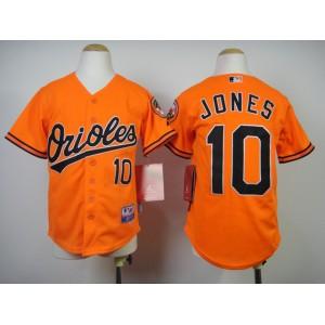Youth MLB Baltimore Orioles 10 Jones Orange 2014 Jerseys