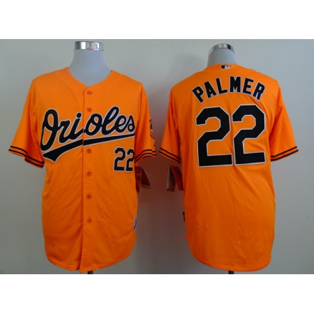 MLB Baltimore Orioles 22 palmer orange Throwback Jerseys