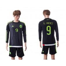 2015 Mexico Copa America 9 R.JIMENEZ Long Sleeve Home Jersey